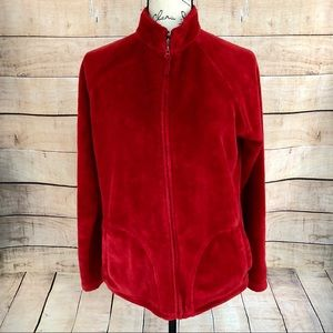 Basic Editions Red Zipup Sweater Size M